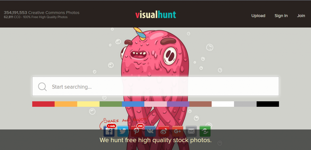 VisualHunt Base Images Gratuites Agence Social Media OnlySo