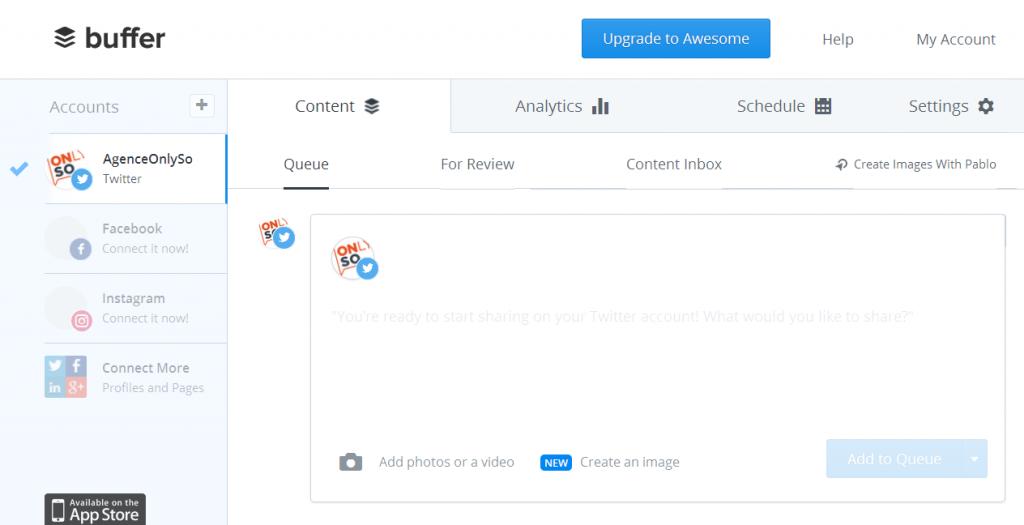 Buffer Programmation Social Media Facebook Twitter Insatgram Agence OnlySo