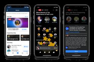 Live Audio Rooms, Podcasts et Soundbites sur l'application Facebook
