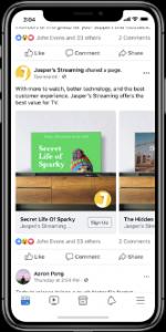L'application Facebook possède une nouvelle fonctionnalité qui est Dynamic Ads for Streaming, des publicités pour les éditeurs de streaming vidéo