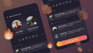 Simulation de Hotline la nouvelle fonctionnalité de Facebook sur un iPhone